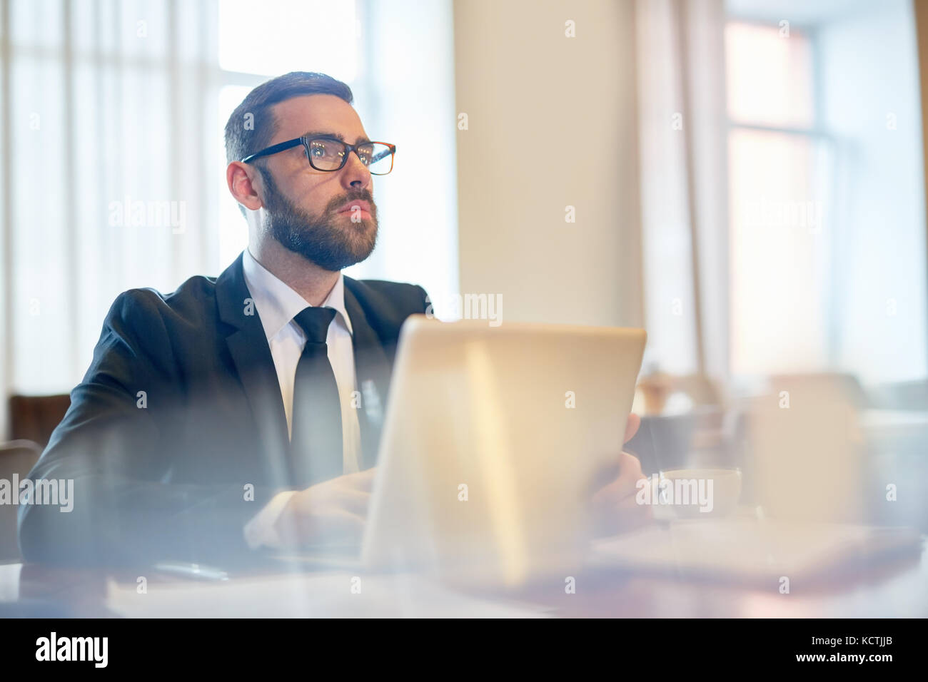Pensive analyst - Stock Image