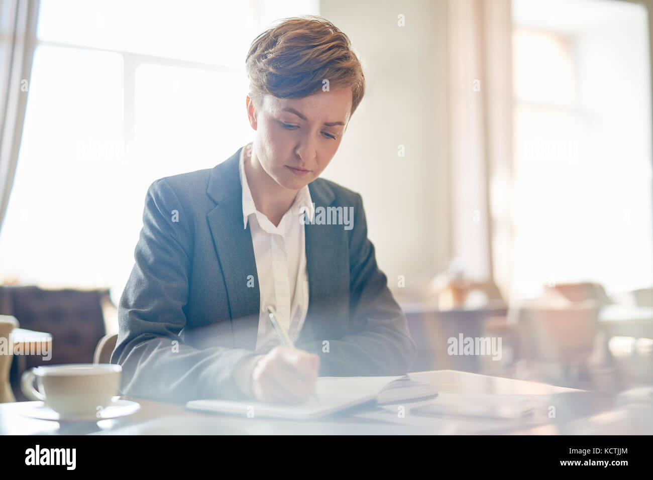 Writing agenda - Stock Image
