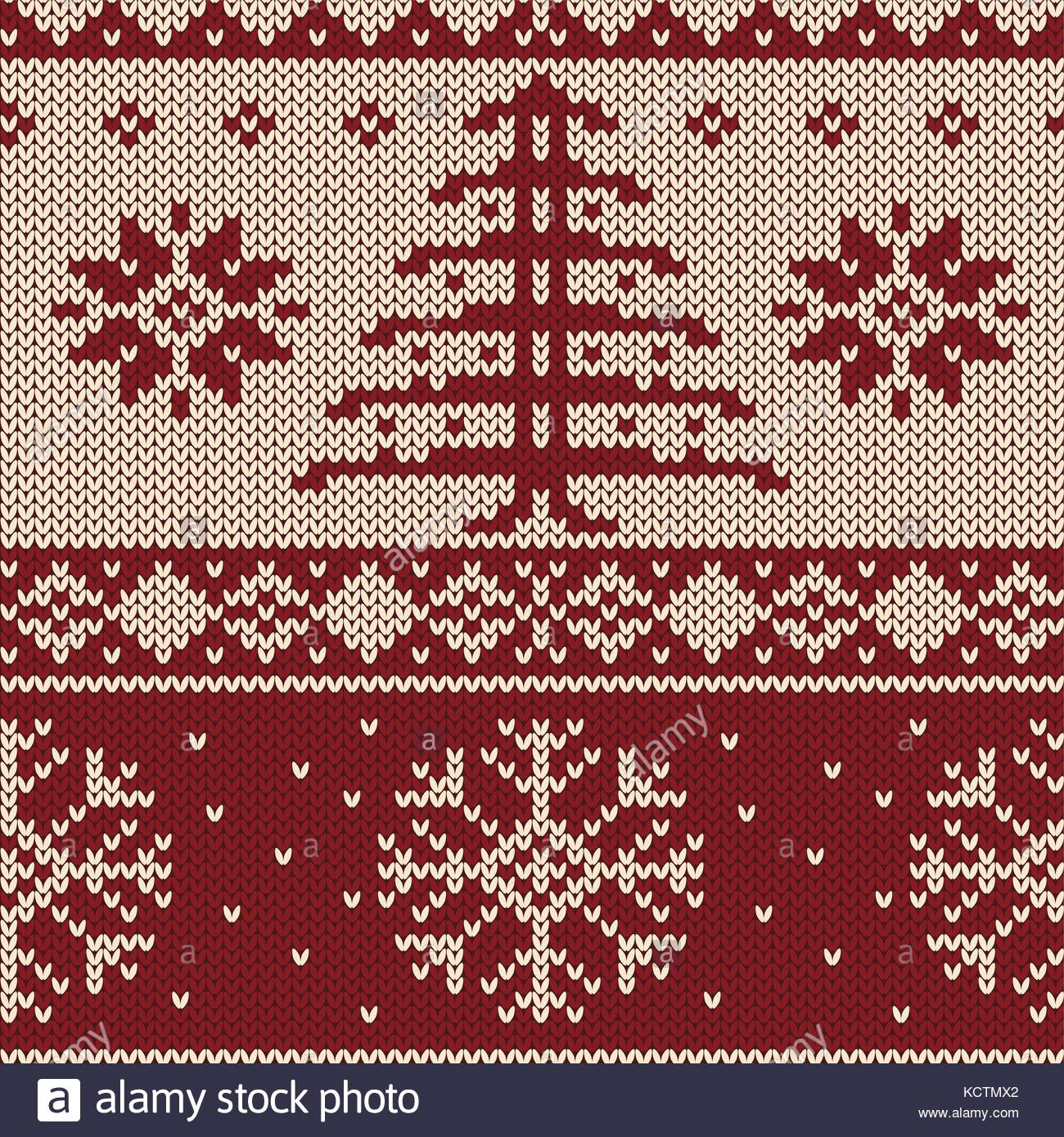 Christmas pattern with Christmas tree and snowflakes. Endless design ...