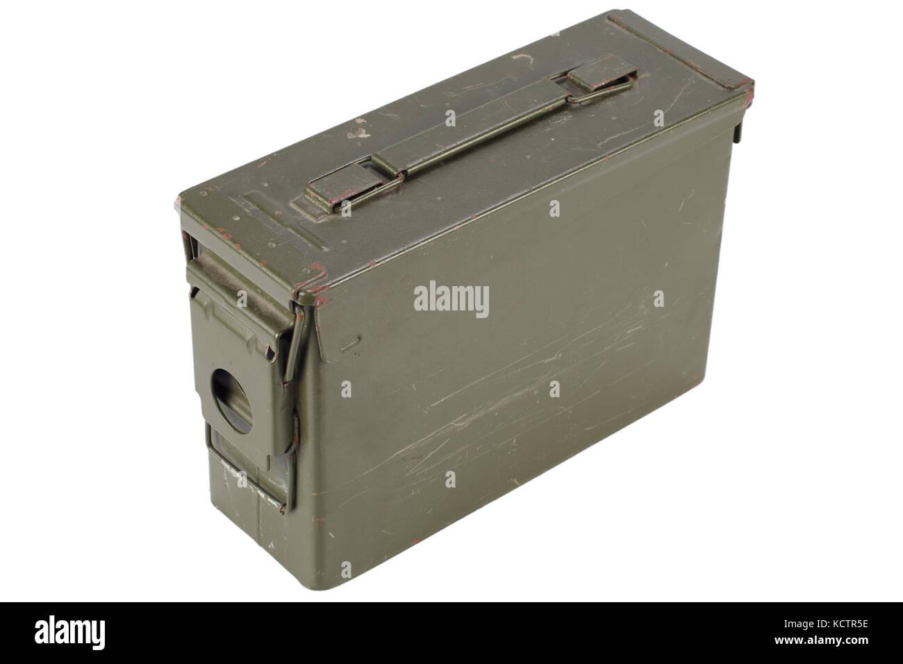 .30 Cal Metal Ammo Can - Stock Image