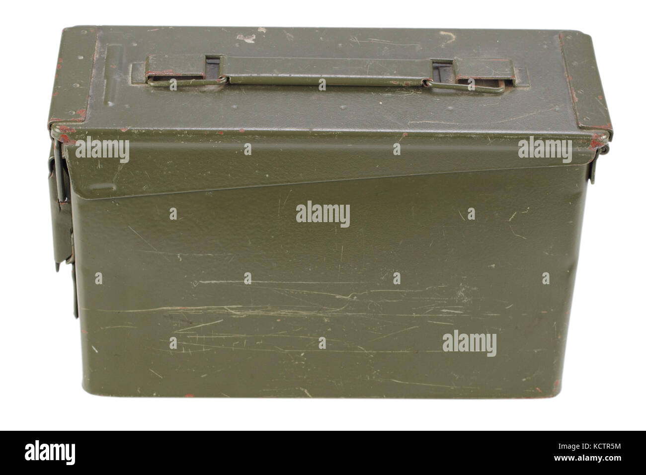 .30 Cal Metal Ammo Can Stock Photo