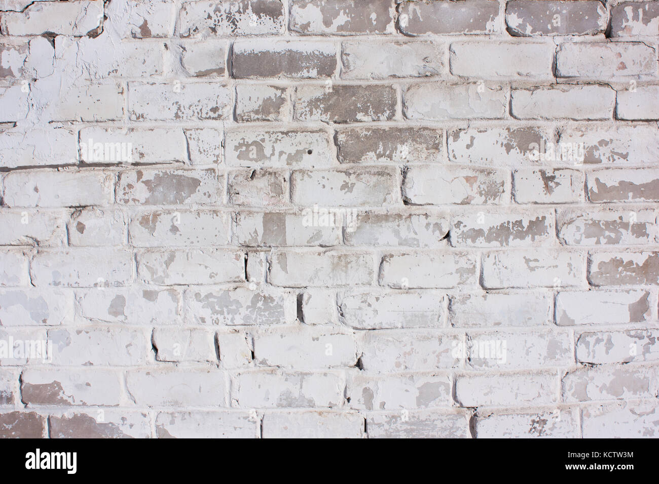 White Brick Background Rustic Old Painted Texture Facade Of The House A Fence Wall Stone
