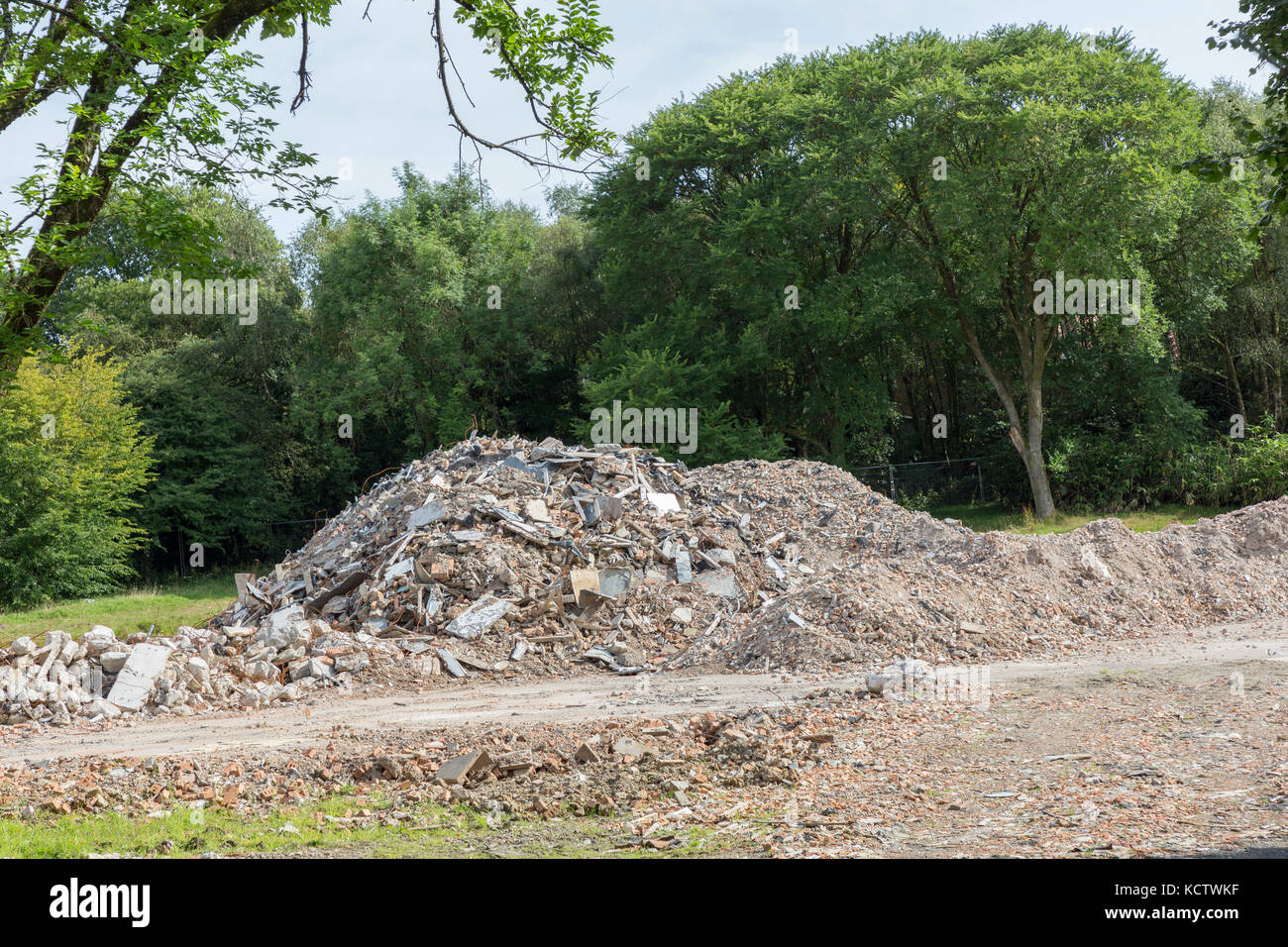 Site of John Dillwyn Llewellyn's manor house at Penllergare, Swansea, Wales, UK - Stock Image