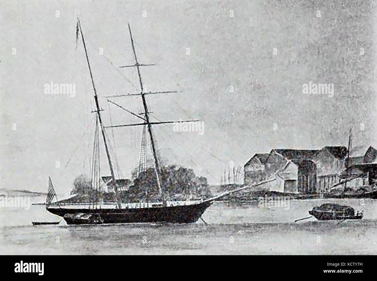 The Boston (USA) Schooner BRENDA, built at Portsmouth New Hampshire in 1852 - Stock Image