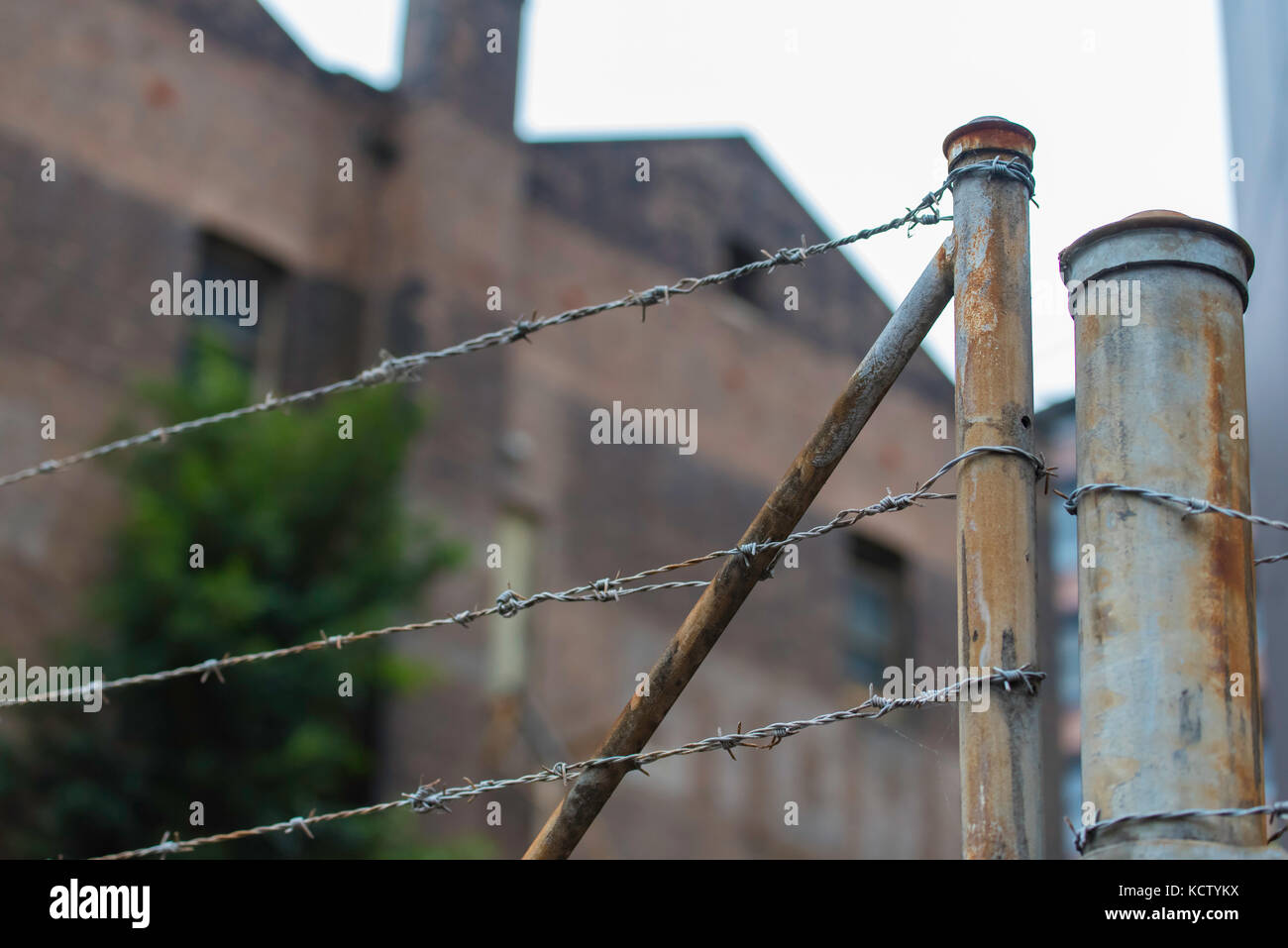 Rusted Barbed Wire Fence Stock Photos & Rusted Barbed Wire Fence ...