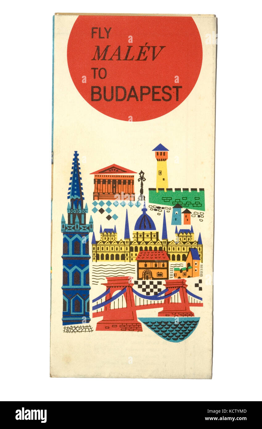 Vintage Guide to Budapest - Stock Image