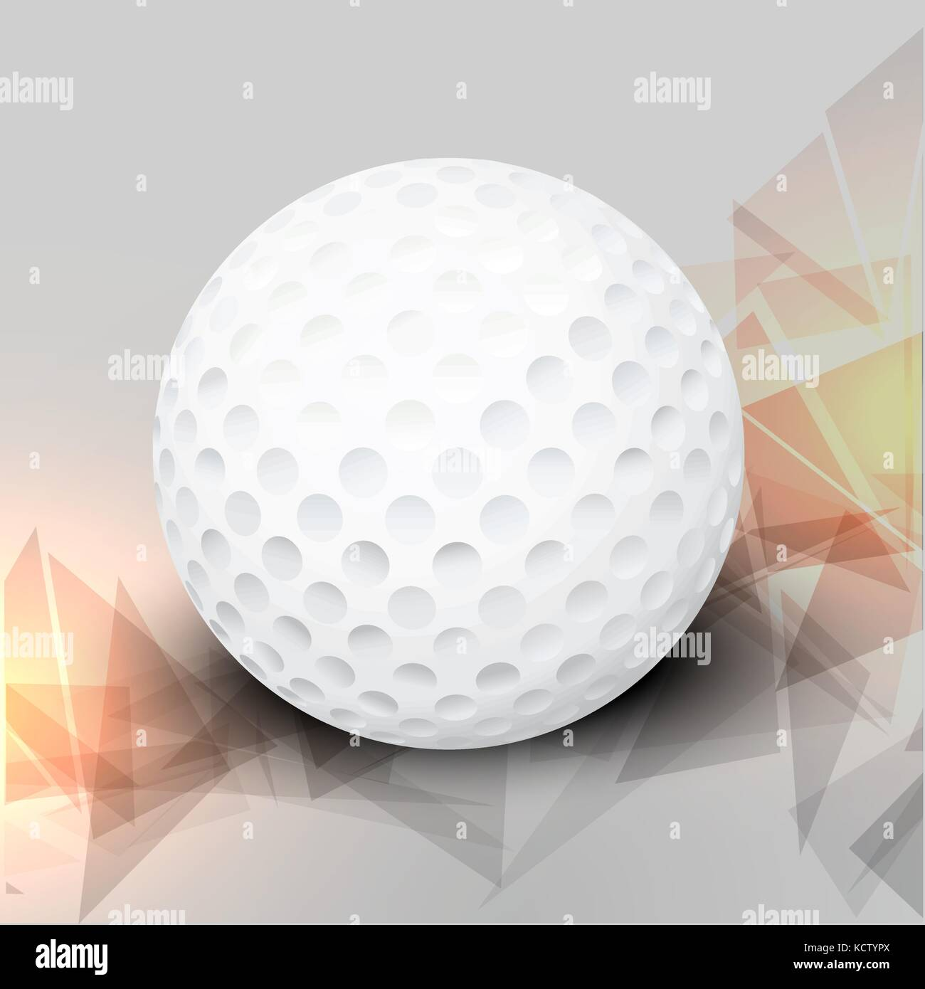 Vector golf ball in a realistic style. - Stock Image