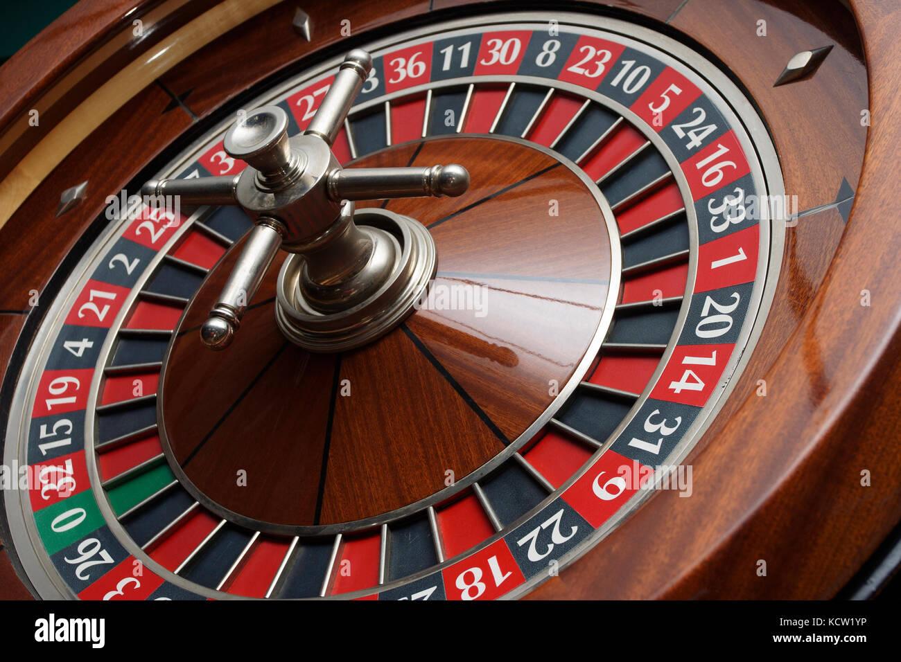 roulette wheel closeup - Stock Image