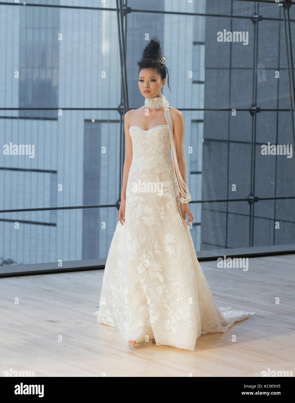 New York, NY - October 6, 2017: Model walks runway for Ines Di Santo ...