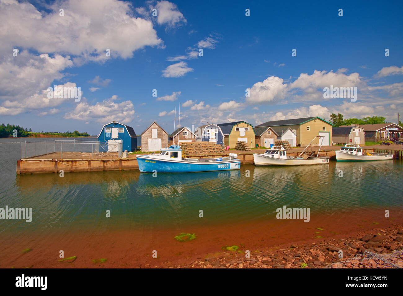 Fishing boats , New London, Prince Edward Island, Canada - Stock Image