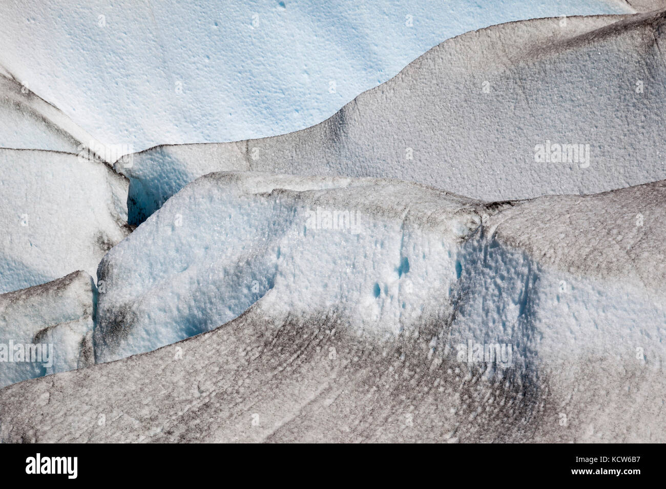 Detail view, ice on the Viedma Glacier, Southern Patagonian Ice Field, Los Glaciares National Park, Argentina - Stock Image