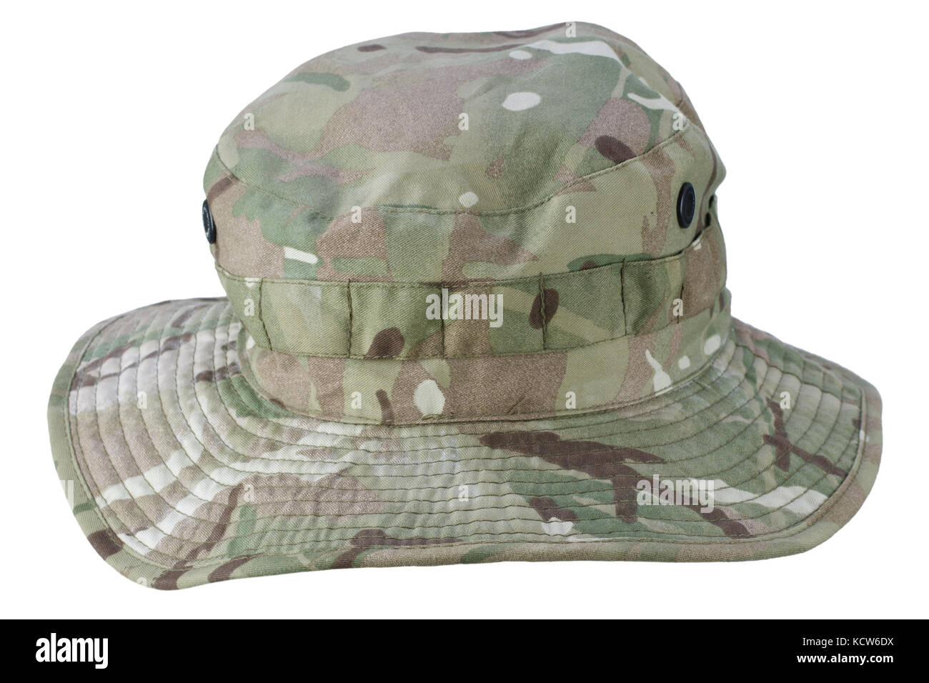 a62ed15efbf9b boonie hat isolated on white background - Stock Image
