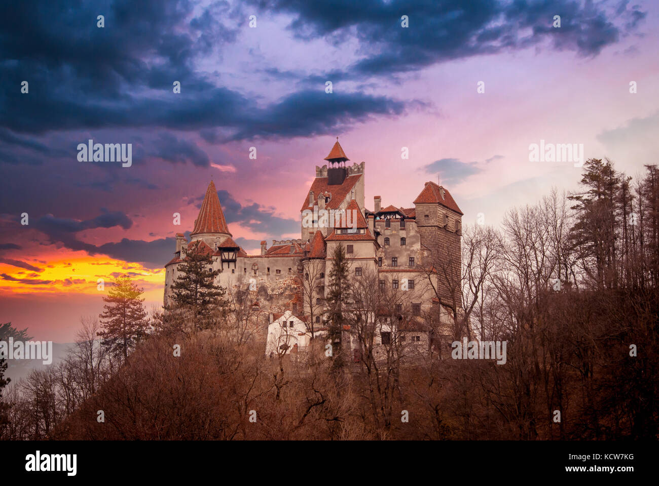 Bran Castle, Transylvania, Romania, known as 'Dracula's Castle'. - Stock Image
