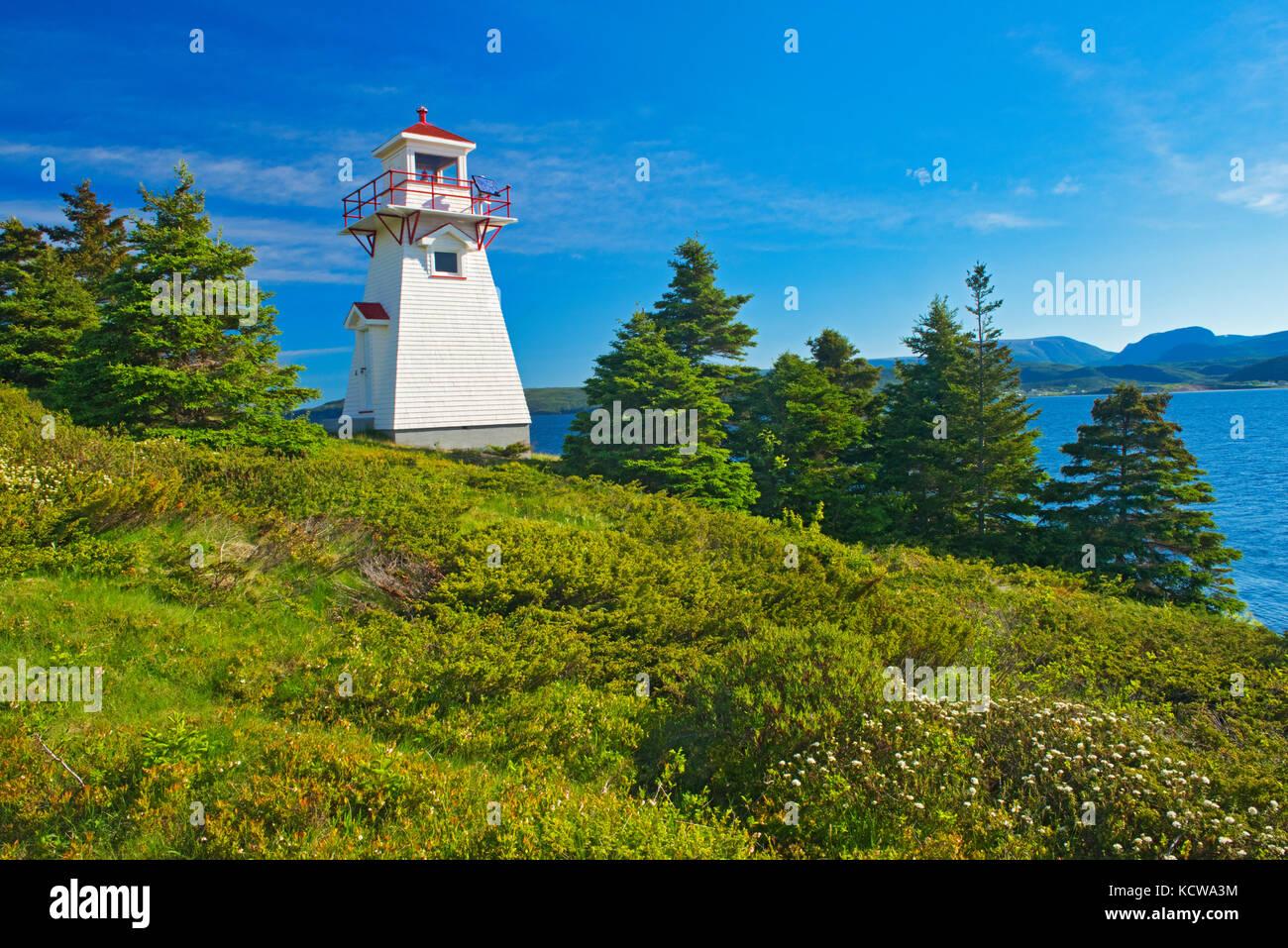 Woody Point Lighthouse, Gros Morne National Park, Newfoundland & Labrador, Canada - Stock Image