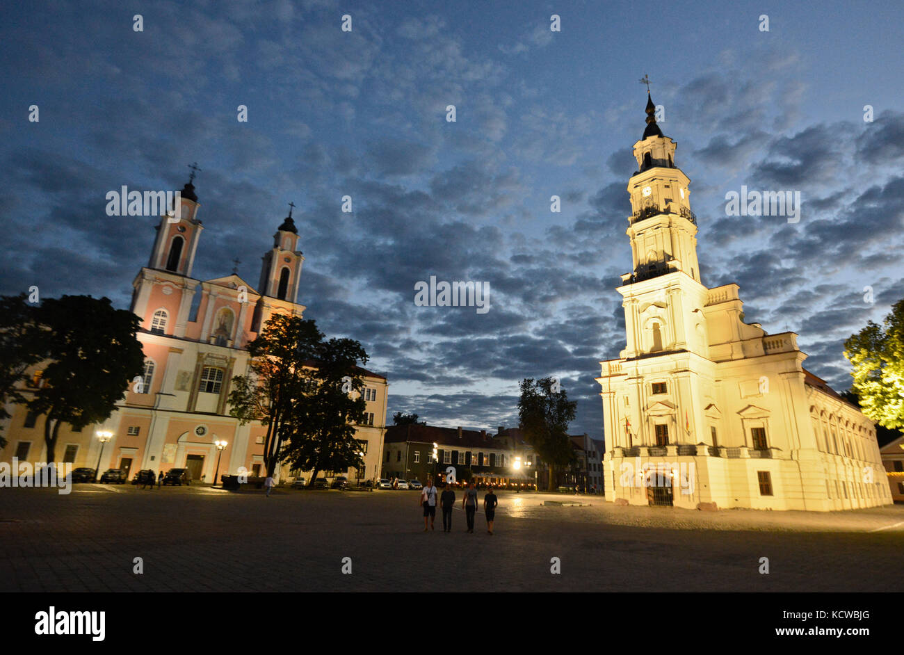 The Town Hall of Kaunas, Lithuania - Stock Image