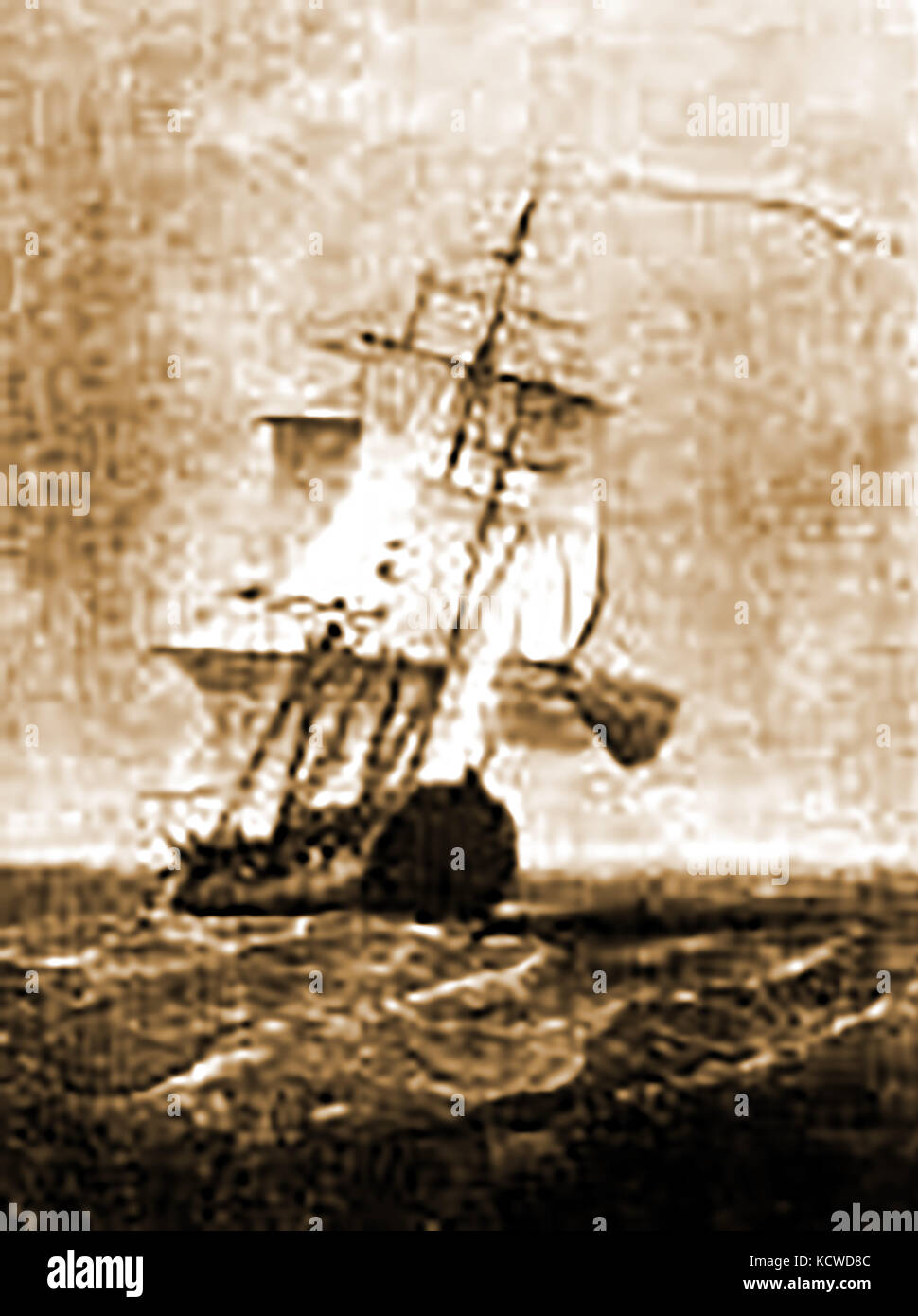 C1750 The Boston ship BETHEL owned by Josiah Quincy and Edward Jackson. Captain was Isaac Freeman - Stock Image