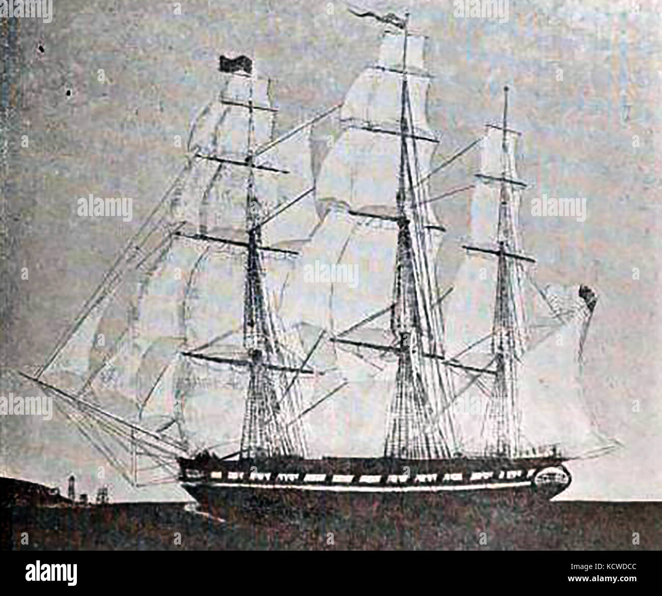 The ship  ANN AND  HOPE built by Benjamin Tallman in 1798 for Brown  & Ives of Providence, Rhode Island , USA - Stock Image