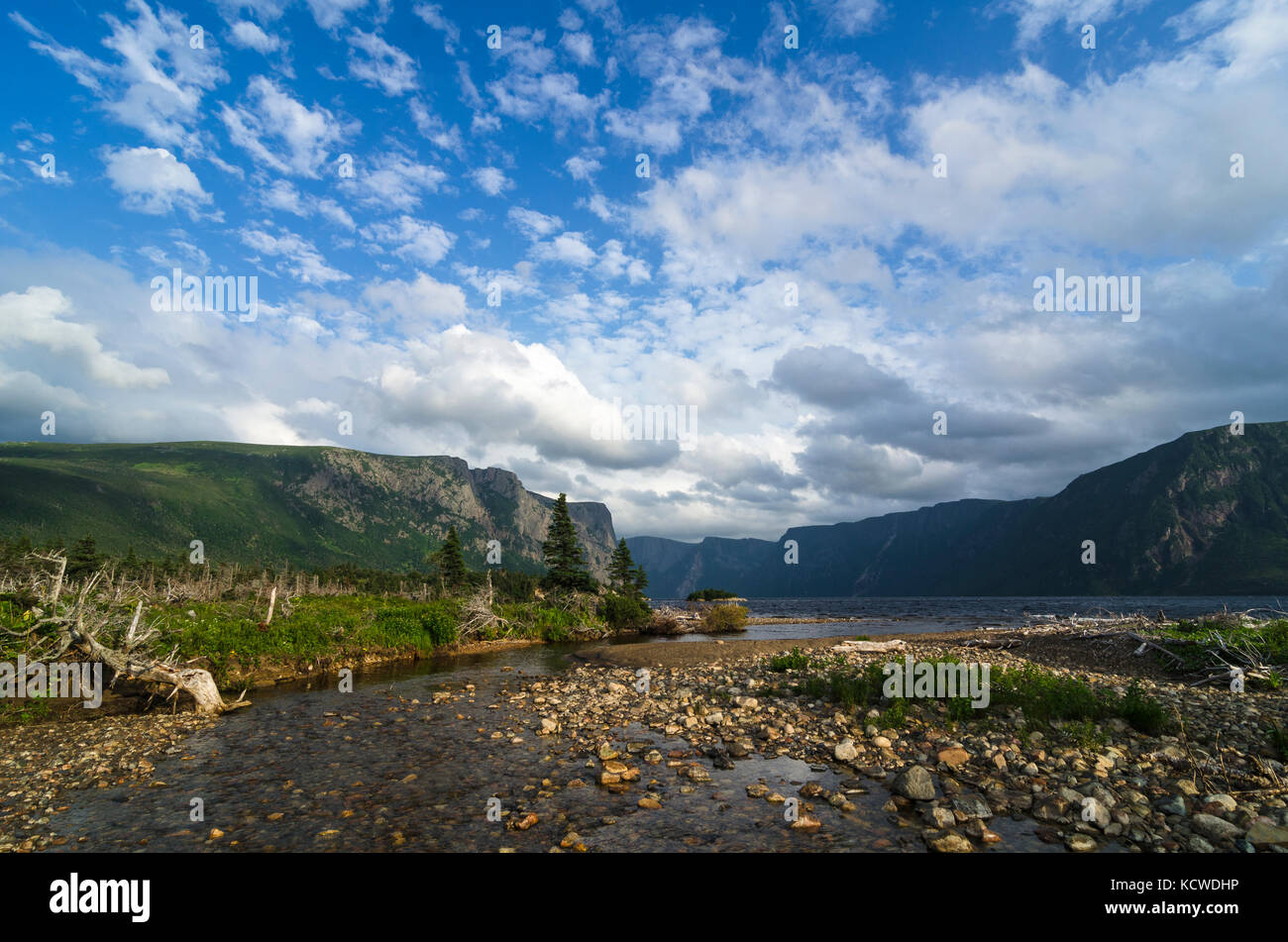 Snug Harbour Trail, Western Brook Pond, Gros Morne National Park, UNESCO World Heritage Site, Newfoundland, Canada - Stock Image