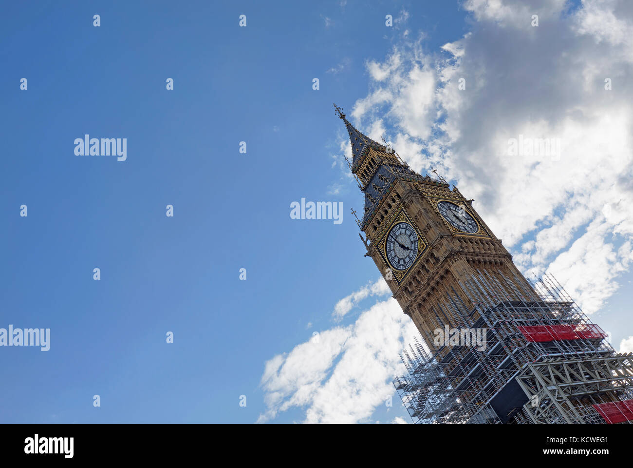 LONDON - SEPTEMBER 2017; Big Ben renovation work. Stock Photo