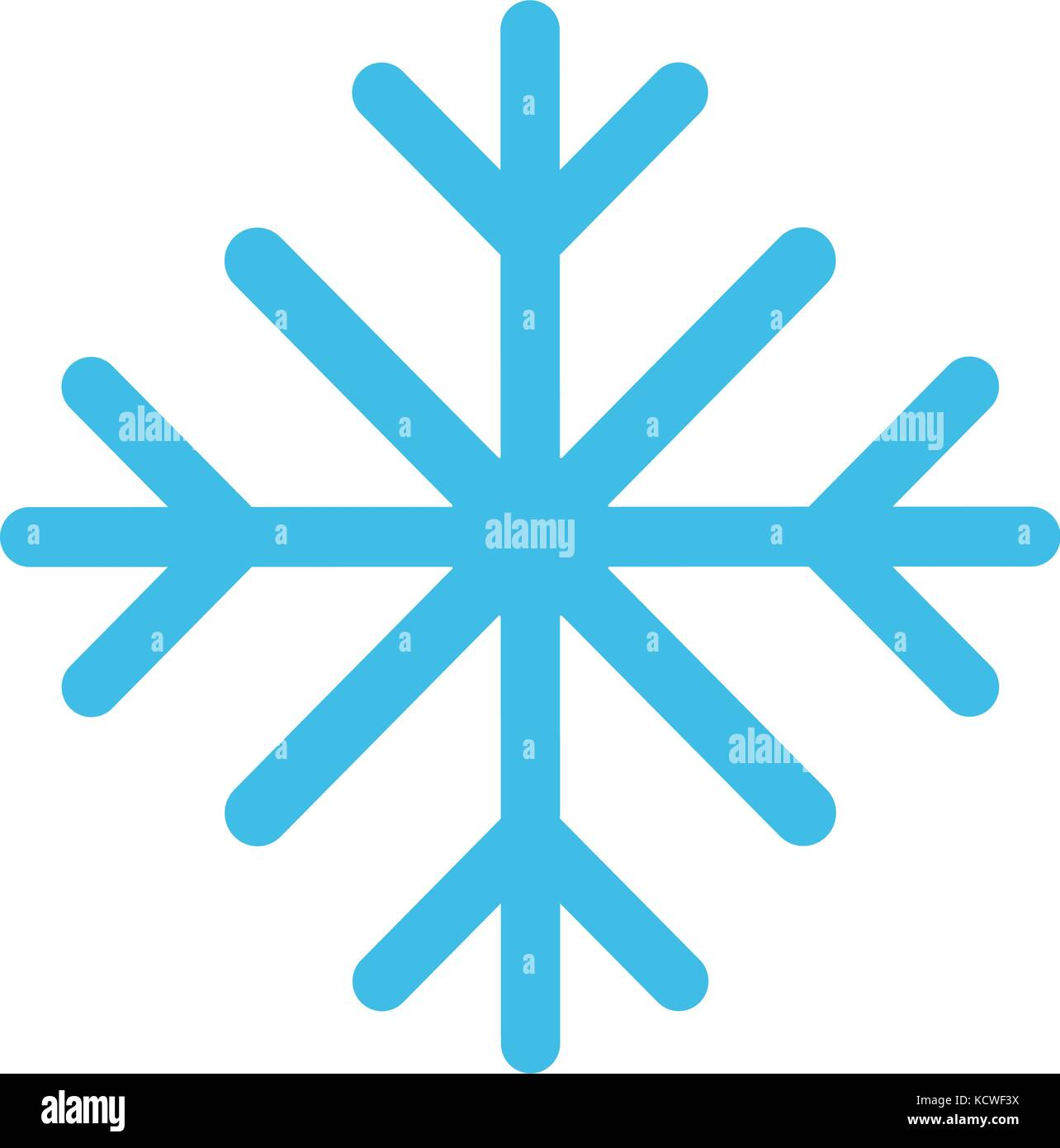 snowflake winter icon image  - Stock Image