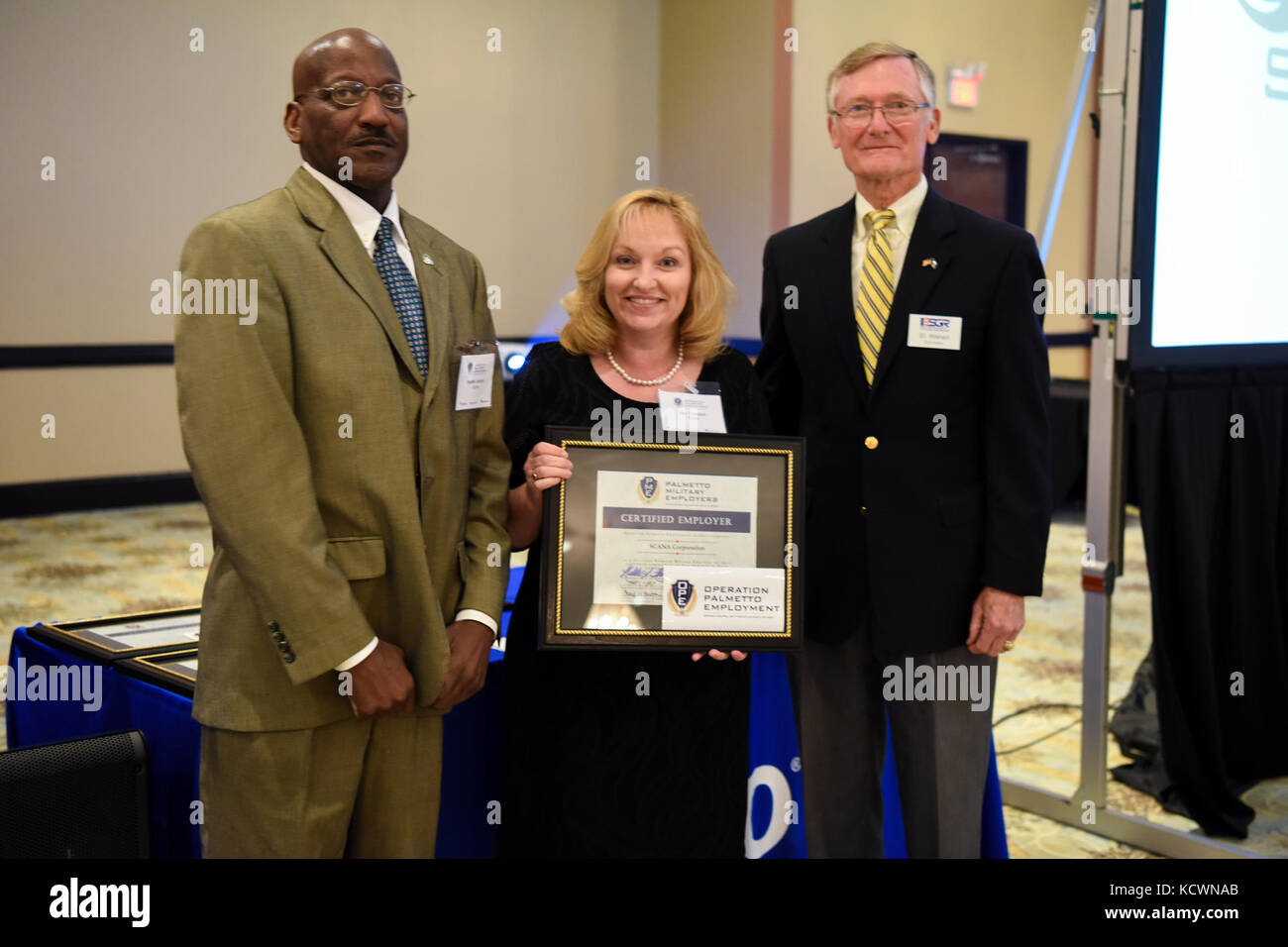 South Carolina employers are awarded and recognized as a certified Palmetto Military Employer during the 3rd annual - Stock Image