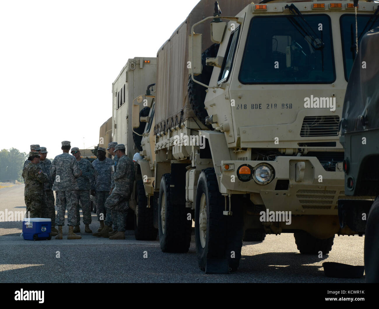 Members of the 218th Brigade Support Battalion, South Carolina National Guard, partnered with the U.S. Army Reserve Stock Photo