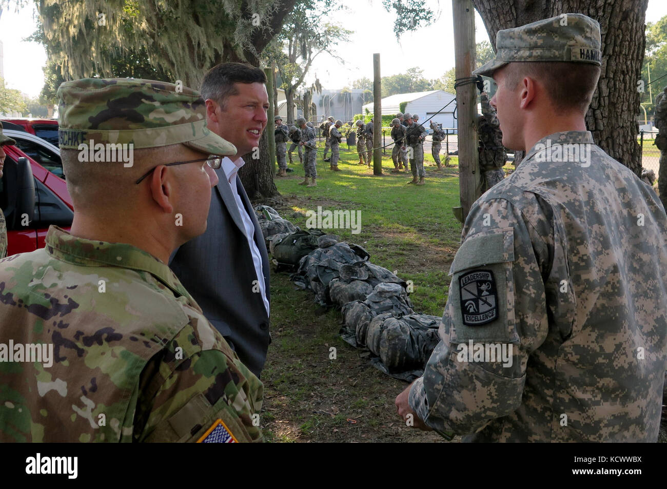 Under Secretary of the Army Mr  Patrick J  Murphy observes