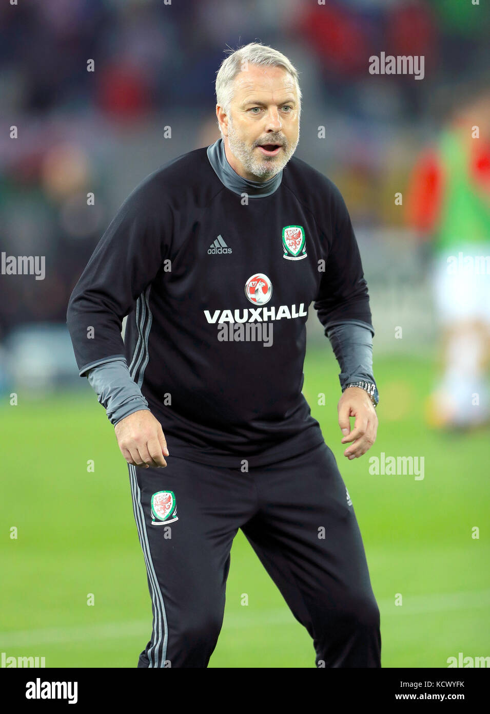 Wales Coach Kit Symons During The 2018 Fifa World Cup Qualifying Group D Match At Boris Paichadze Dinamo Arena Tbilisi Press Association Photo