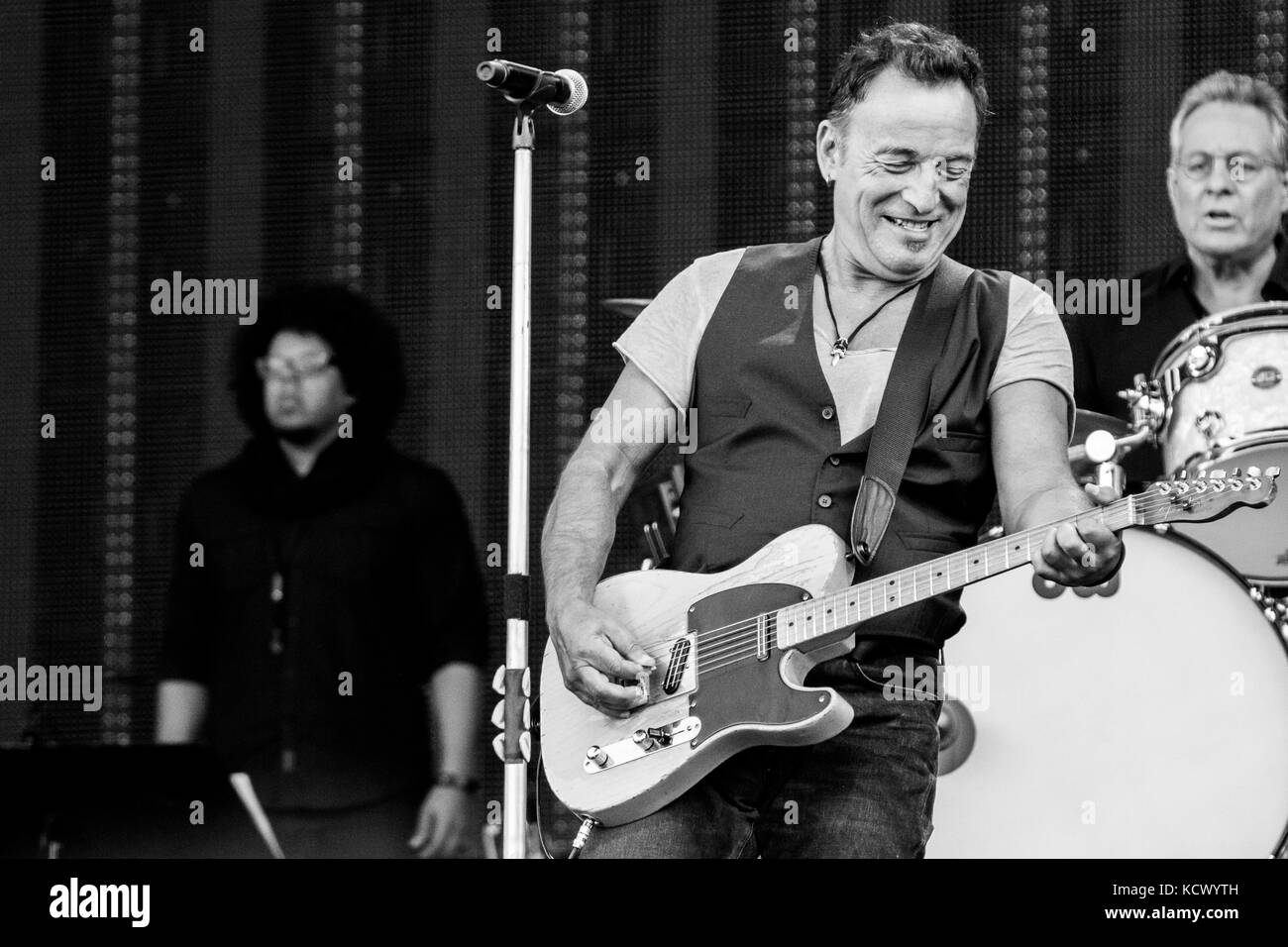 Zurich Switzerland. 09th July 2012. Bruce Springsteen performs live on stage at Stadion Letzigrund during the 'Wrencking - Stock Image