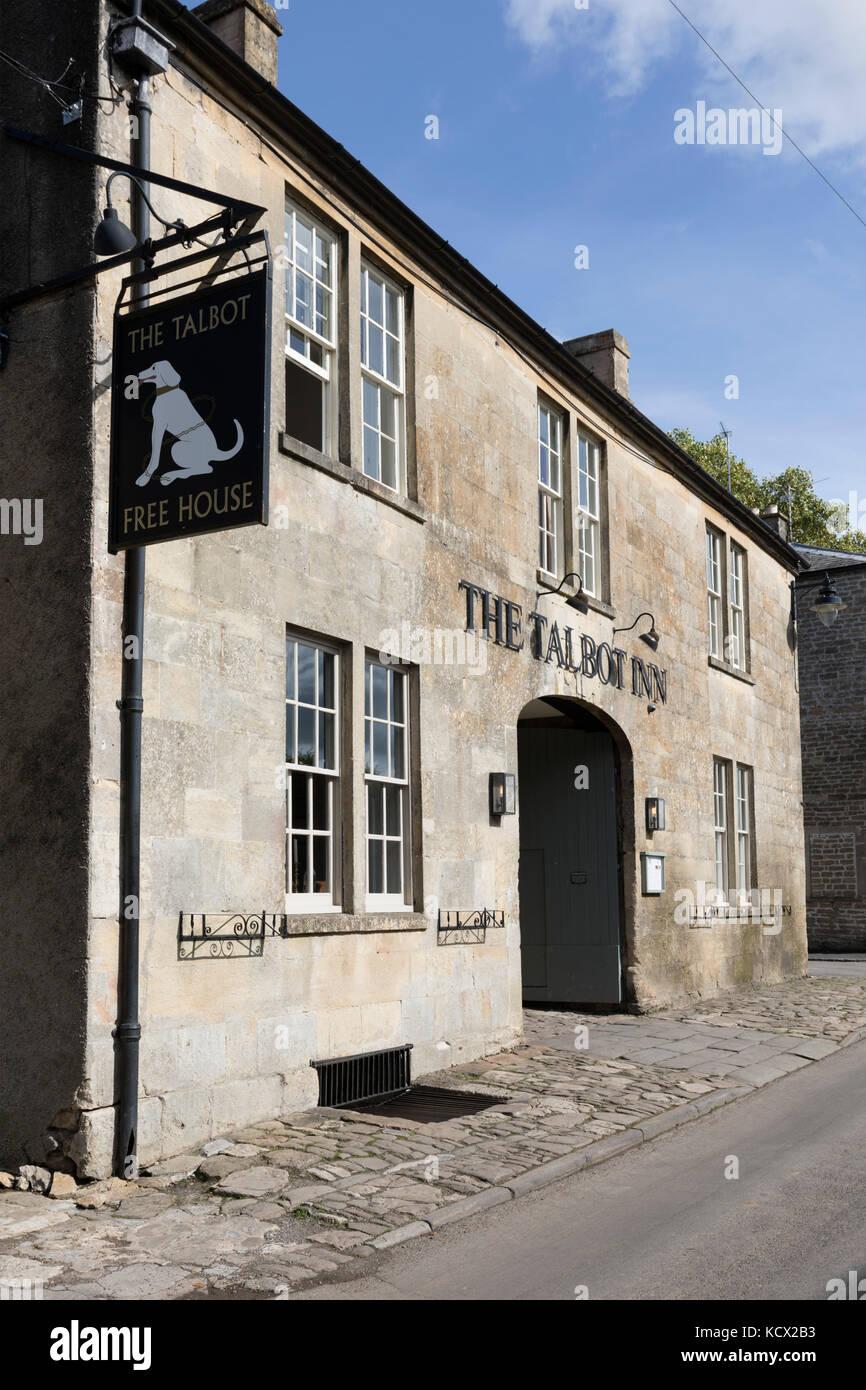 The Talbot Inn, Mells, Somerset, England, United Kingdom, Europe - Stock Image