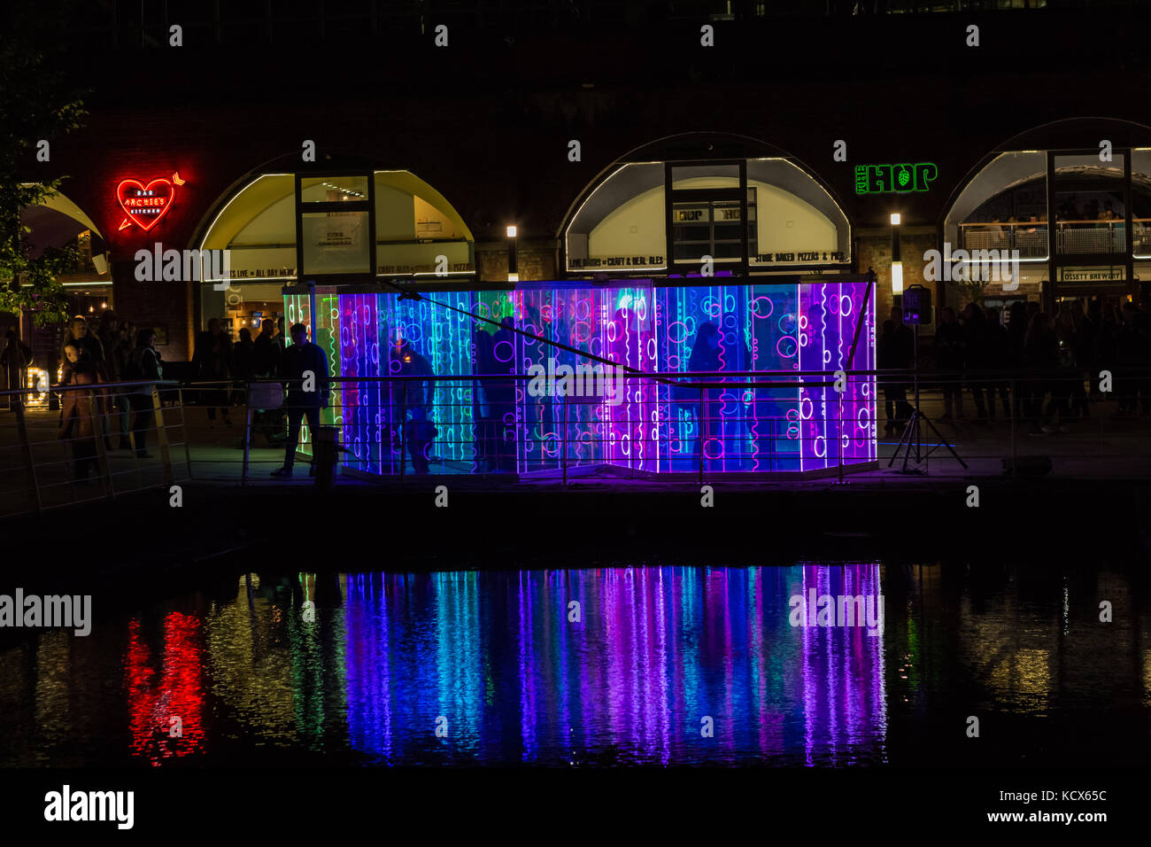 6th Oct 2017, Leeds Night Light, a magical celebration of light and colour, this the 13th year of Light Night Leeds. - Stock Image
