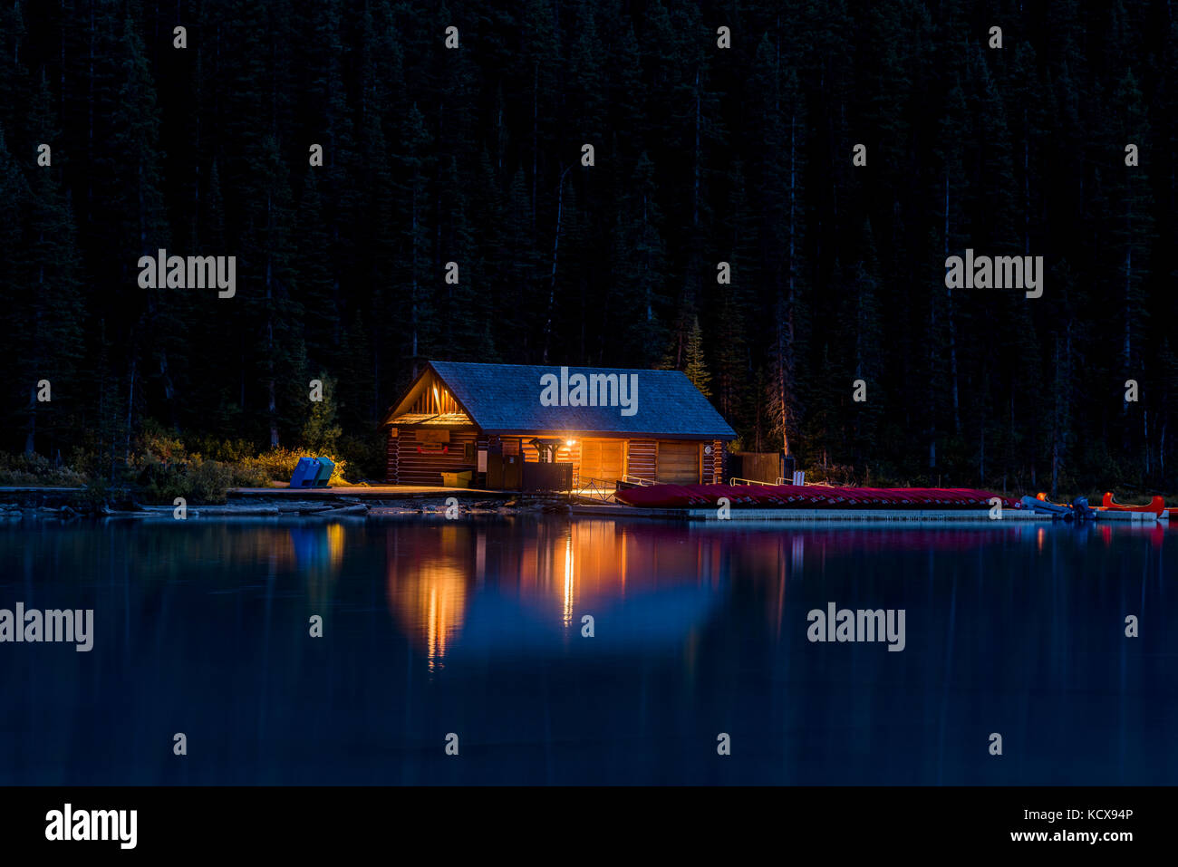 Canoe rental cabin, Lake Louise, Banff National Park, Alberta ...