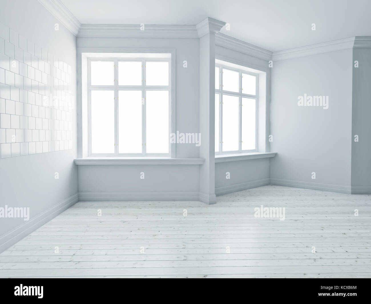 The Modern Empty Interior Rooms 3d Rendering Stock Photo Alamy