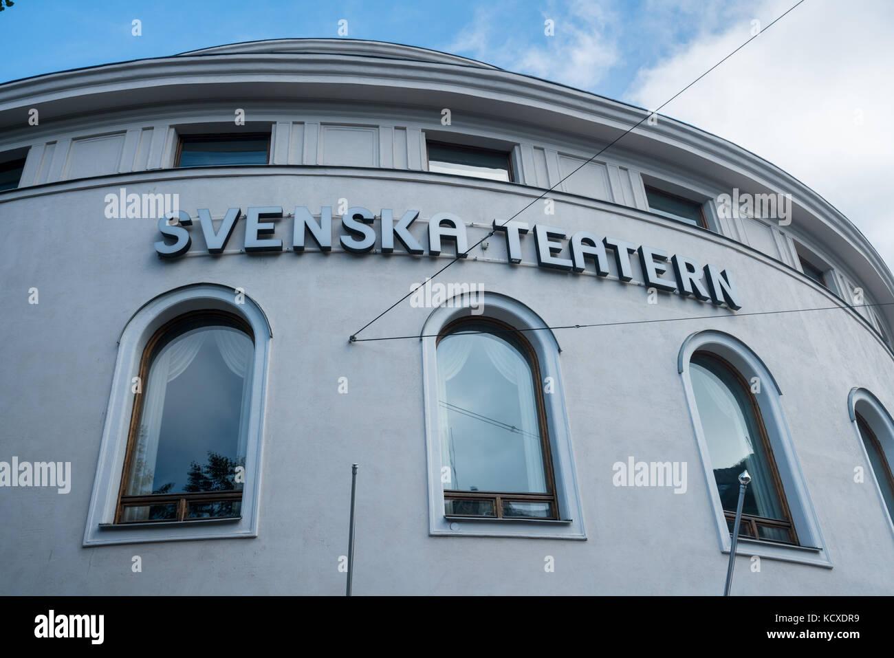 Svenska or Swedish Theater in Helsinki Finland - Stock Image