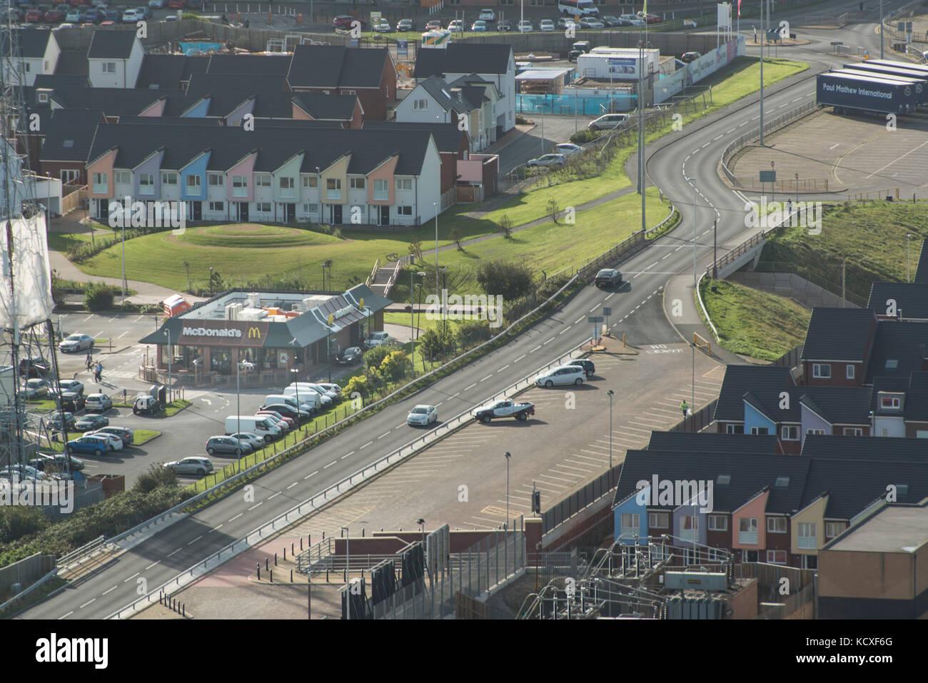 McDonalds restaurant Rigby Road Blackpool close to Seasiders way. Lancashire. Credit Lee Ramsden / ALAMY - Stock Image