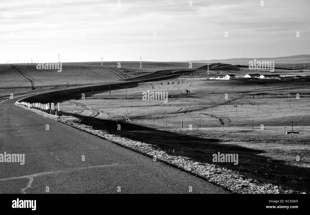 Inner Mongolia steppe - Stock Image