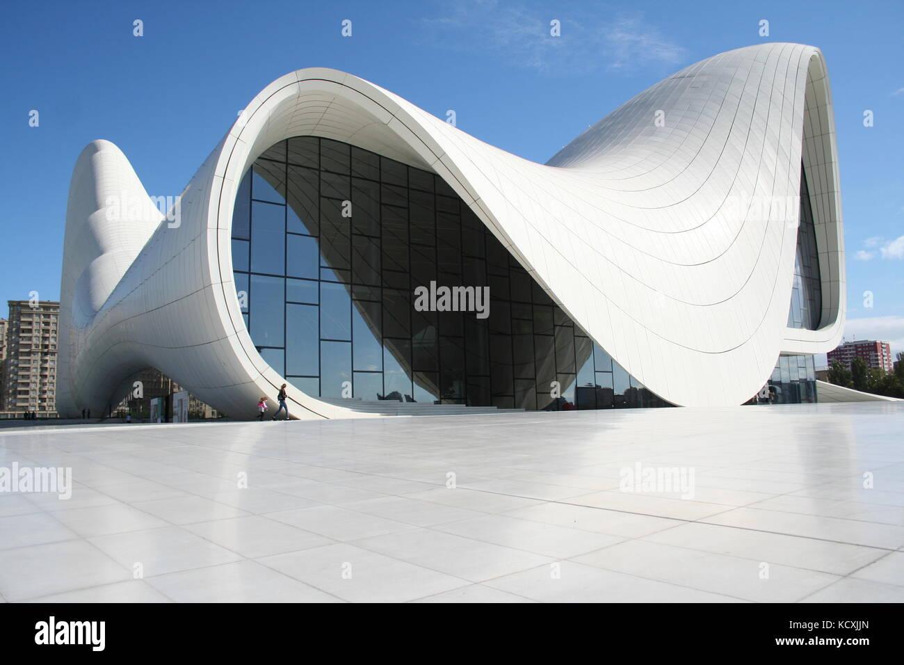 The Heydar Aliyev Center Baku, Azerbaijan - Stock Image