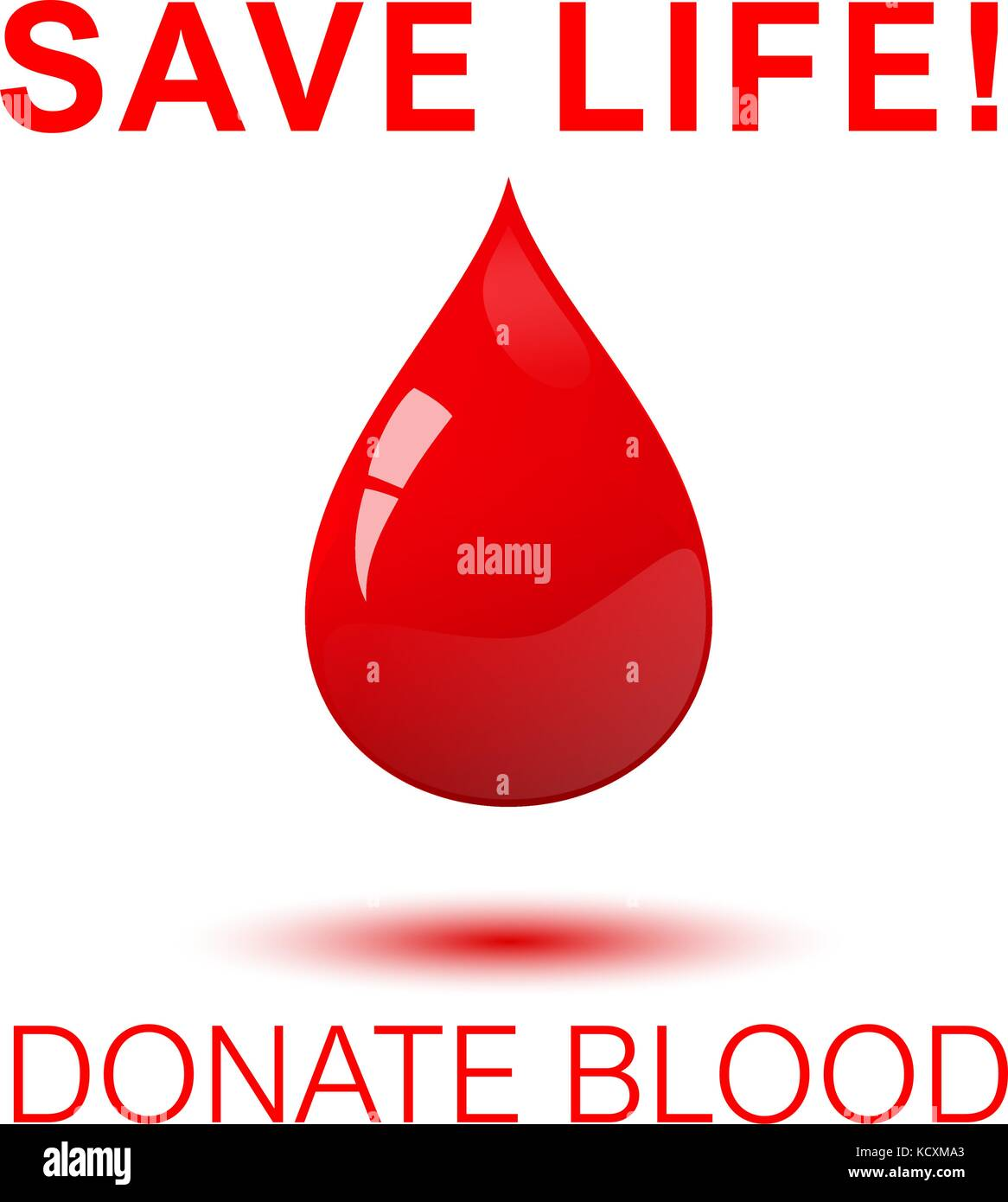 Save life - donate blood square concept poster. - Stock Image