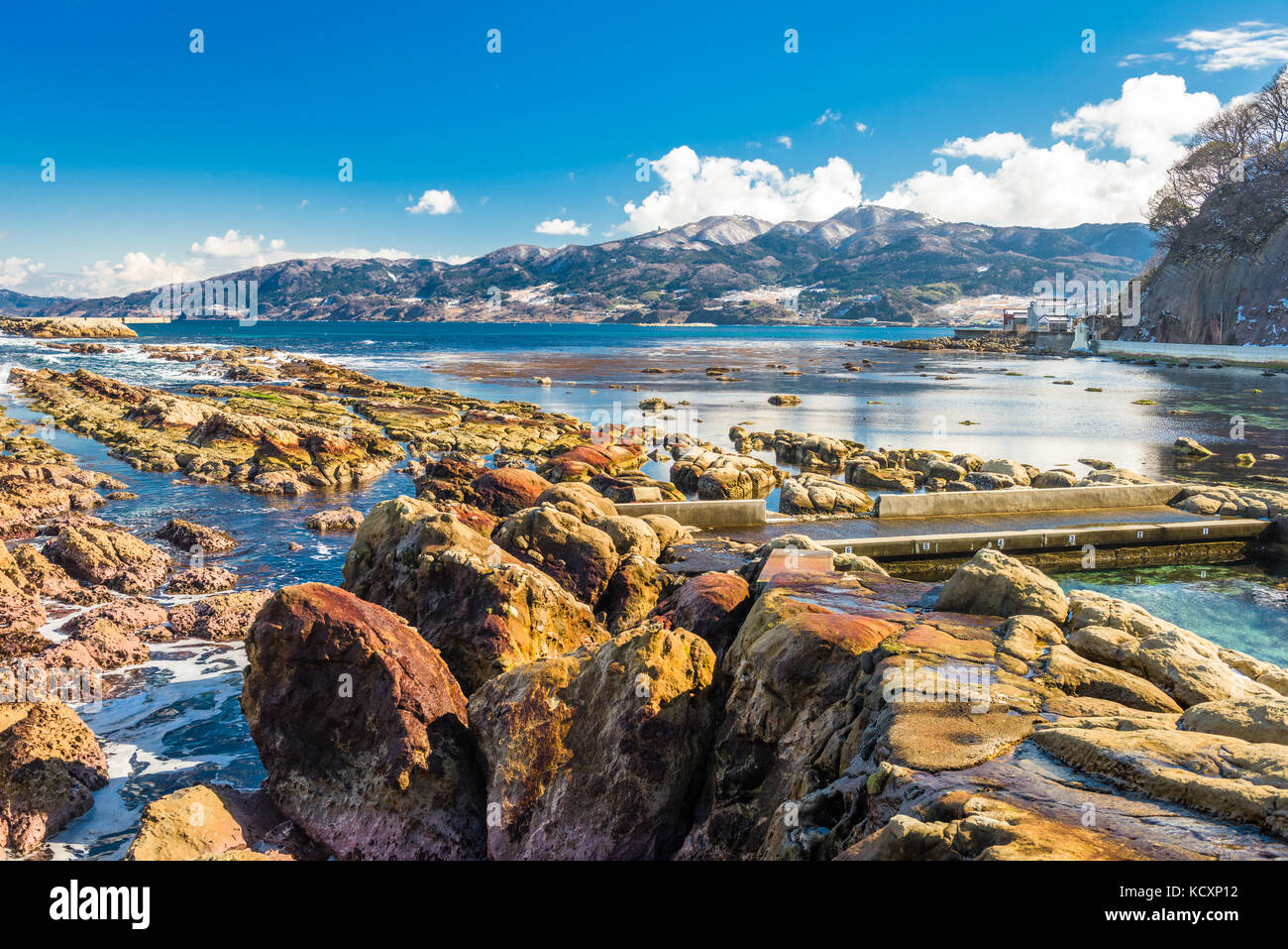 Wajima, Ishikawa, Japan rural coastal park. - Stock Image