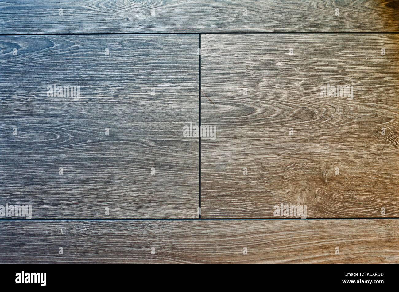 Grey wood grain floorboards Stock Photo