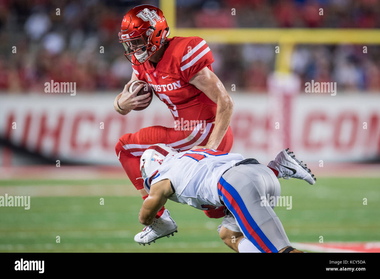 Houston, TX, USA  7th Oct, 2017  Houston Cougars quarterback