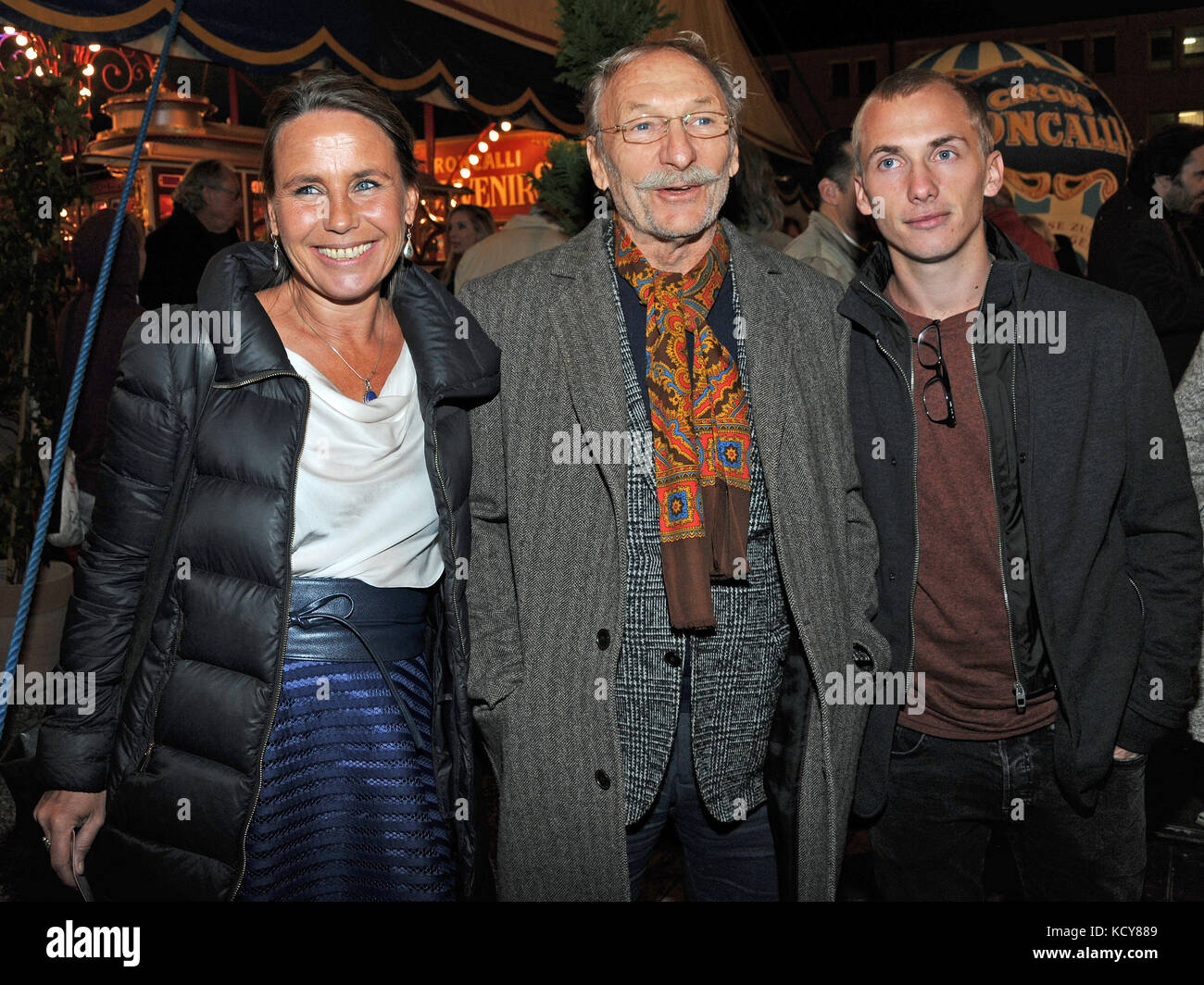 Munich, Germany. 7th Oct, 2017. Actor and writer Franz Xaver Kroetz, his former wife Marie-Theres Relin-Kroetz and - Stock Image