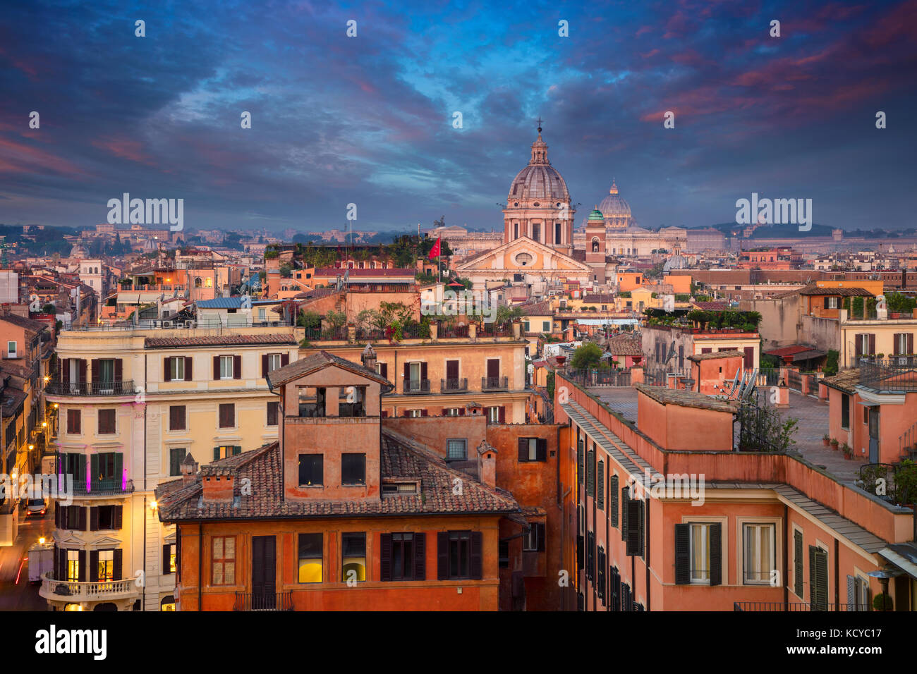 Rome. Cityscape image of Rome, Italy during sunrise. - Stock Image