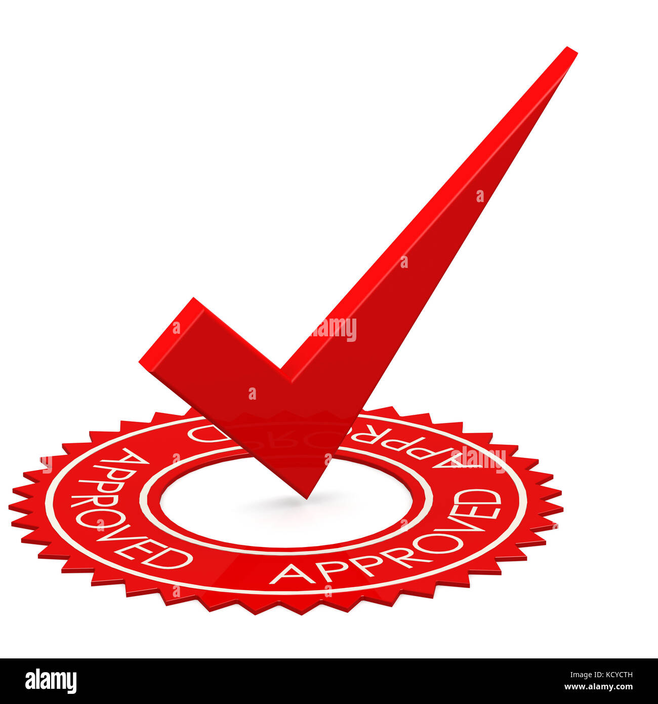 Approved Red Tick In A Circle Image With Hi Res Rendered Artwork