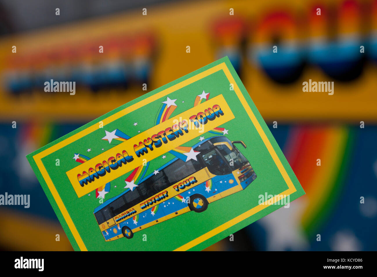 Magical Mystery Tour ticket, Albert Dock, Liverpool, Merseyside - Stock Image