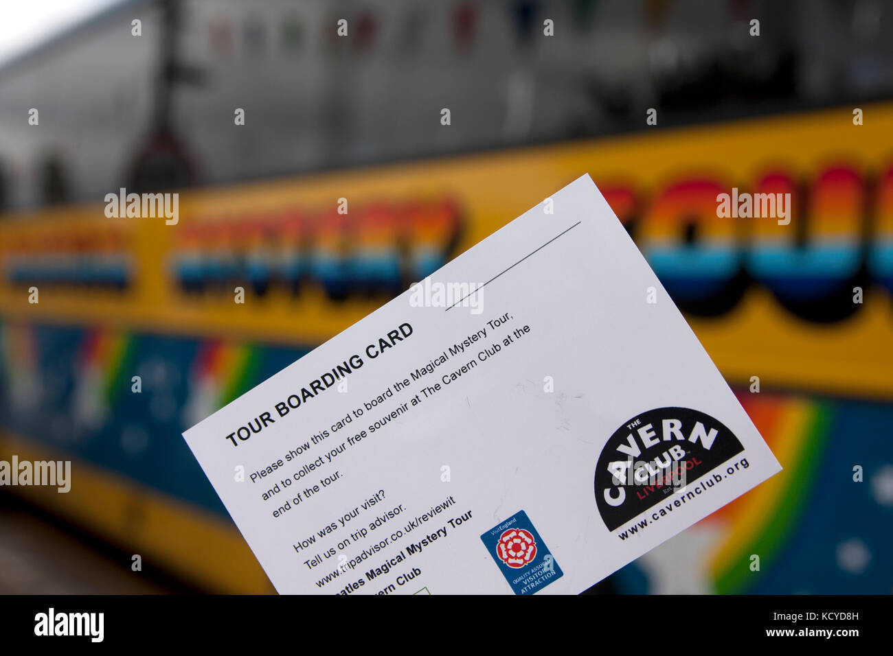 Magical Mystery Tour pass for the Cavern Club, Albert Dock, Liverpool, Merseyside - Stock Image