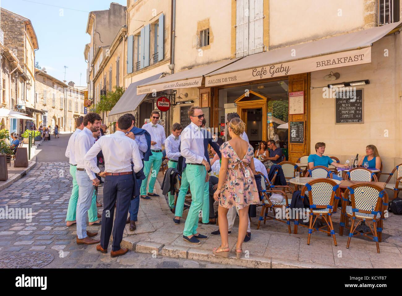 Outdoor Café In Provence Stock Photos Outdoor Café In