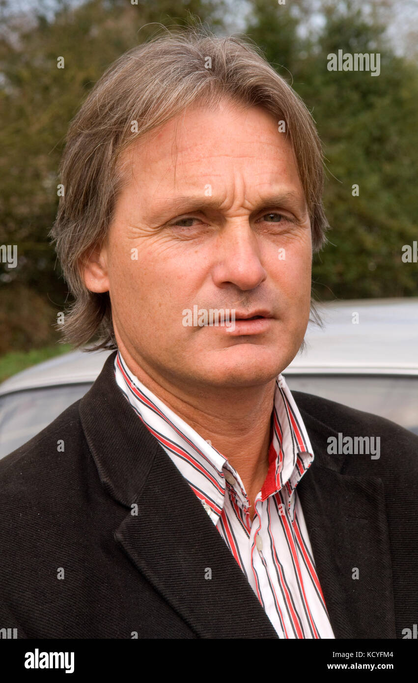 Noah Burton, gypsy leader and traveller site owner - Stock Image