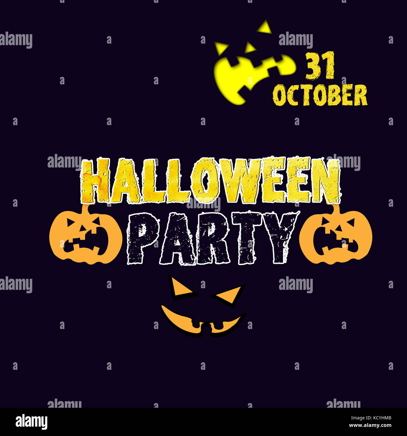 halloween party invitation - Stock Image