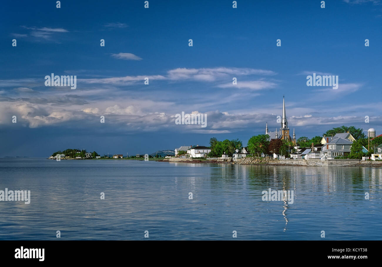 Partial view of the village of Kamouraska in Lower Saint-Lawrence region, Québec, Canada - Stock Image